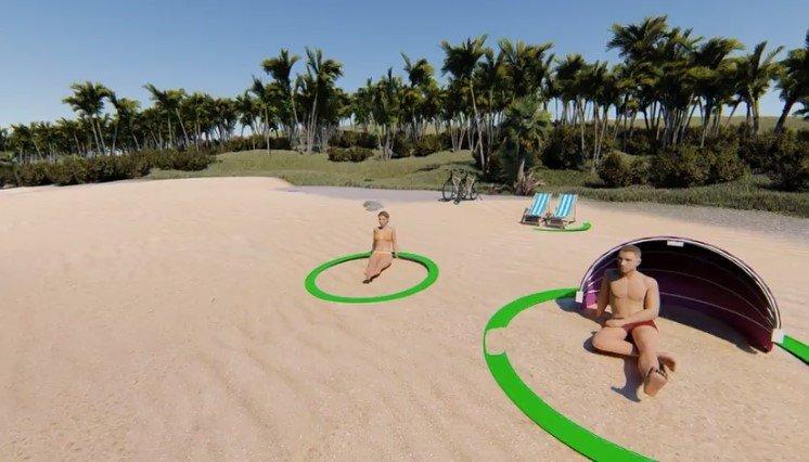aro para la playa