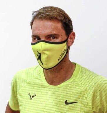 mascarilla nadal tenis